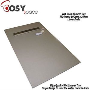 CosySpace Wet Room Shower Tray Multiple Sizes Multiple Settings (900x1200x20mm - Centre Drain)